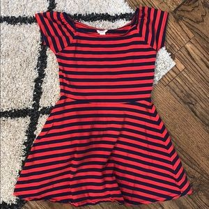 Forever 21 Navy and red stripe Dress